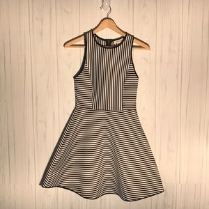 Monteau womens small striped sleeveless mini dress